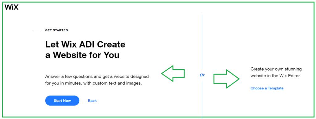 مساعدة Wix في إنشاء الموقع